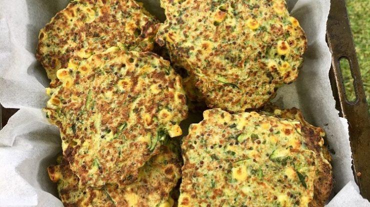 Corn, Zucchini & Quinoa Fritters